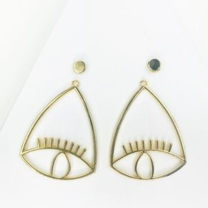 CLOSET REHAB Jewelry - RESTOCKED Evil Eye Gold Drop Earrings